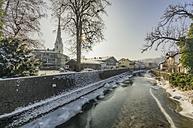 Germany, Bavaria, Prien am Chiemsee in winter - THAF01905