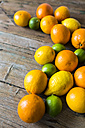 Lemons, oranges and limes on wood - GIOF02235