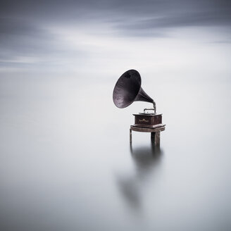 Gramophone in a lake - XCF00154