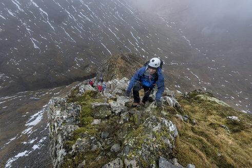 UK, Scotland, Glencoe, trekking at Sron na Lairig - ALRF00859