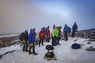 UK, Scotland, Ben Nevis, mountaineers on summit - ALRF00874
