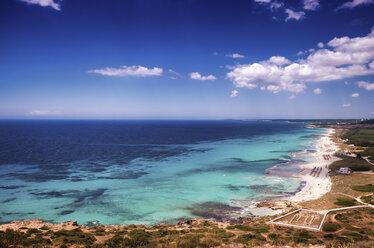 Spain, Menorca, Son Bou Beach and Basilica de Son Bou - SMAF00723