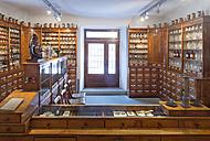 Germany, Radolfzell, salesroom of historical pharmacy at municipal museum - SHF01955