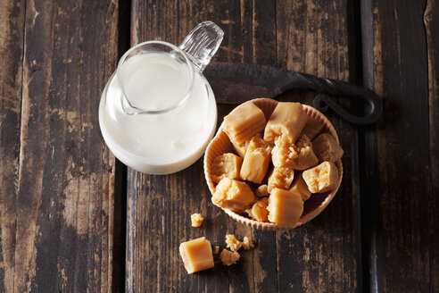Fresh cream toffees and a carafe of cream - CSF28135