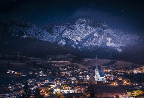 Austria, Maria Alm at night - STCF00301