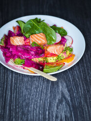 Mixed salad with salmon - KSWF01802
