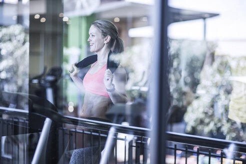 Athletic woman on treadmill at the gym - ZEF13335