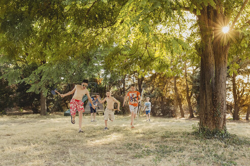 Boys playing on a meadow - NMSF00039