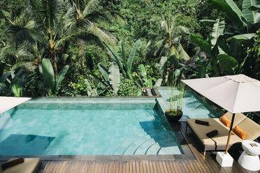Indonesia, Bali, tropical swimming pool - JUBF00215