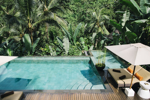 Indonesia, Bali, tropical swimming pool - JUBF00215