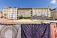 Austria, Vienna, Naschmarkt, cloth market, Wienzeilen houses - WDF03956