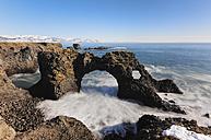 Iceland, Arnarstapi cliffs - RAEF01788