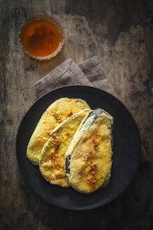 Breaded and battered aubergine slices - EVGF03175