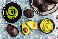 Bowl of guacamole and avocado - SARF03284