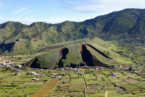 Spain, Canary islands, Tenerife, Teno mountains, Montana del Palmar, ragged landscape by lava rock mining - SIEF07396
