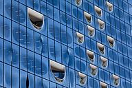 Germany, Hamburg, facade of Elbe Philharmonic Hall, partial view - KLR00518