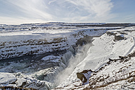 Iceland, Golden Circle, Gullfoss in winter - MELF00183