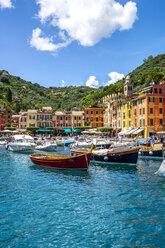 Italy, Liguria, Portofino, moored boats - PUF00622