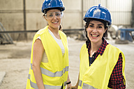Female skilled workers in concrete factory - JASF01650