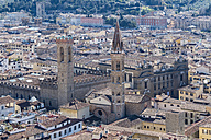 Italy, Florence, Palazzo Vecchio seen from above - LOMF00537