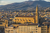 Italy, Florence, Basilica di Santa Croce at sunset - LOMF00555