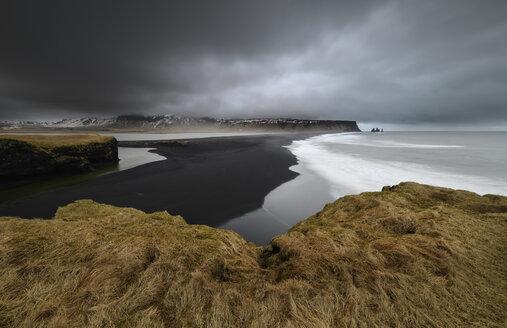 Iceland, Reynisfjara beach from Dyrholaey Peninsula - RAEF01853