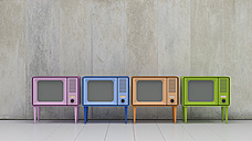 Row of four televisions in retro style - UWF01169