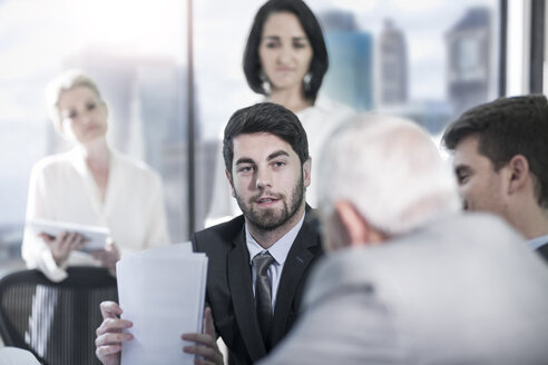 Group of businesspeople discussing in meeting - ZEF13640