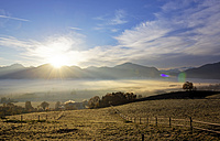 Germany, Bavaria, sunrise above Loisachmoor - LHF00527