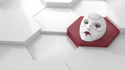 Crying mask, 3d rendering - AHUF00349