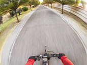 Personal perspective of cyclist on a street - LAF01827