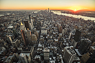 USA, New York City, cityscape at twilight - DAWF00539
