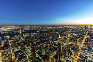 USA, New York City, cityscape at dusk - DAWF00545