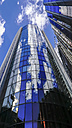 UK, England, London, glass facade of modern office tower with reflection - HOHF01422