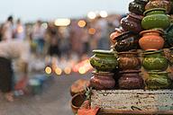 Morocco, assortment of ceramics on a market - KKAF00759