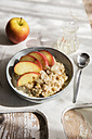 Bowl of porridge with apple and cinnamon - EVGF03216