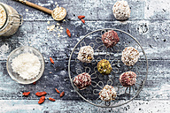 Various Bliss Balls on cooling grid - SARF03332