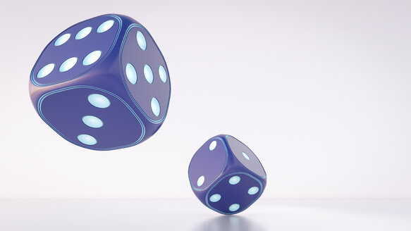 Two dices, 3d rendering - AHUF00363