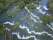 Croatia, Sibenik, Krka National Park, aerial view of waterfall - STCF00302