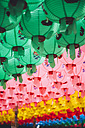 South Korea, Gyeongju, paper lanterns at Bulguksa temple - GEMF01607