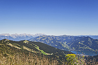 Austria, Salzburg State, mountain panorama from Schmittenhoehe towards Zell am See - GWF05202