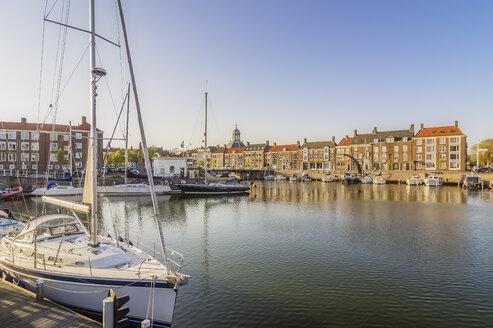 Netherlands, Zeeland, Middelburg, city harbour - THAF01950
