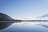 Austria, Tyrol, morning mist at Lake Walchsee - GWF05212