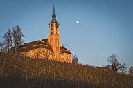 Germany, Birnau, view to pilgrimage church at sunlight - KEBF00553