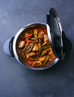 Pot of veal stew with okras - PPXF00054