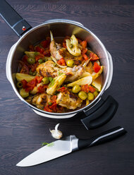 Steamer of rabbit meat with fennel - PPXF00057