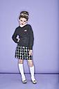 Portrait of rouged girl wearing school uniforme - FSF00890