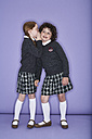 Two girls wearing school uniform - FSF00893