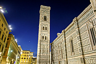 Italy, Florence, Cathedral, Basilica di Santa Maria del Fiore at night - LBF01609