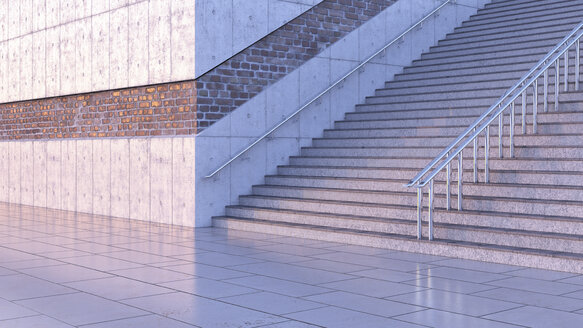 Staircase at twilight, 3D Rendering - UWF01183